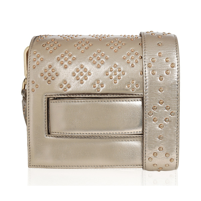Gold Leather Accordion Bag