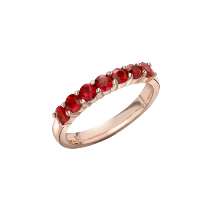 18kt Rose Gold Ruby Red Ring
