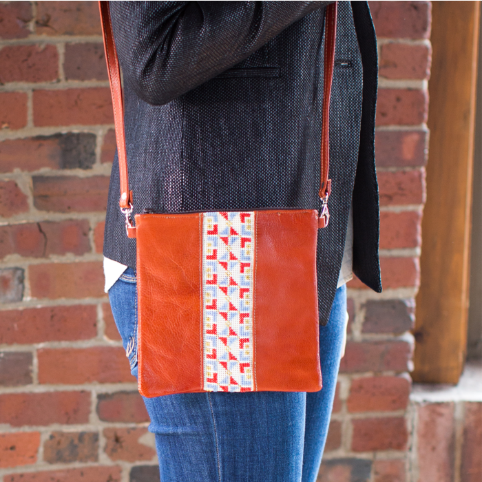 The Red Crossbody Leather Bag