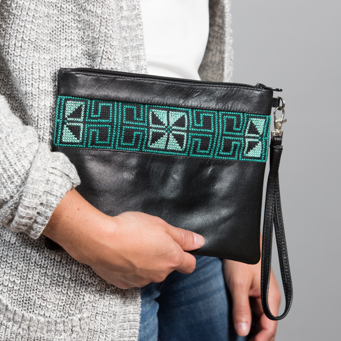 The Teal Egypt Clutch Bag
