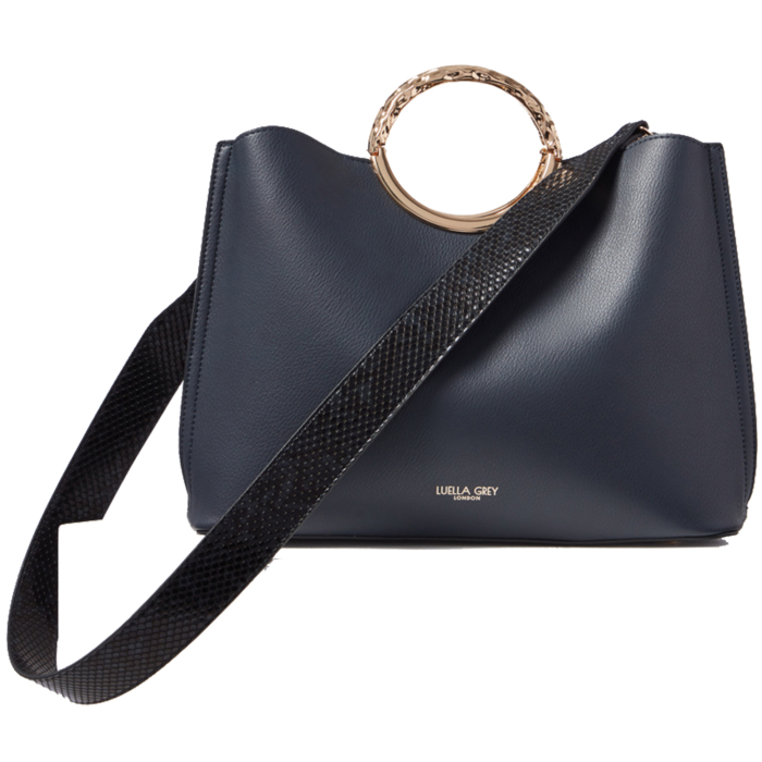 Olivia Navy Triple Compartment Tote Bag