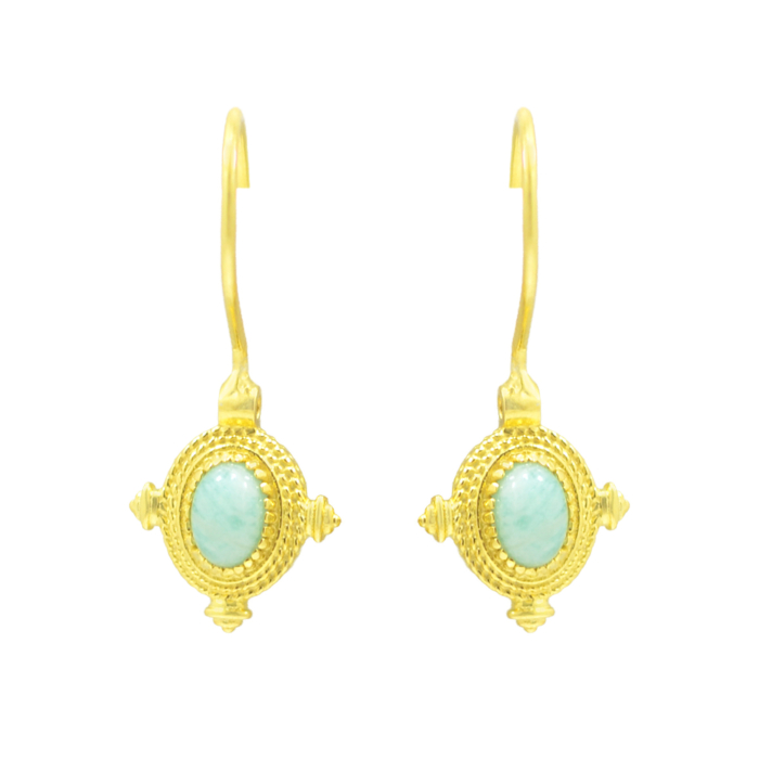 Amazonite Boho Earrings