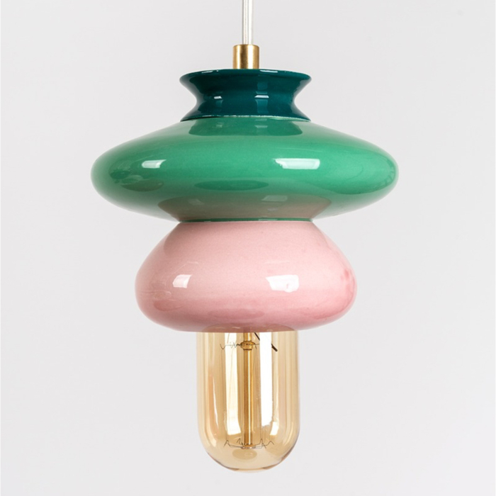 Small Ceramic Apilar Pendant Lamp 2