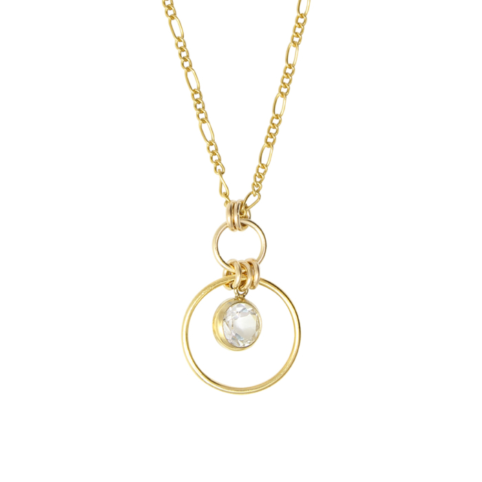 Mia Circles and Topaz Gold Necklace