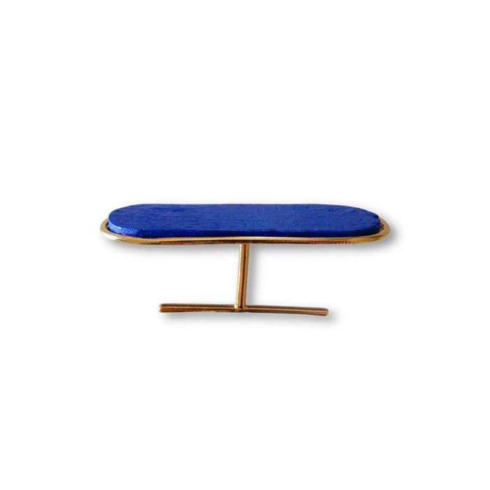 18kt Gold Plated Recycled Silver Aptera Ring | Blue