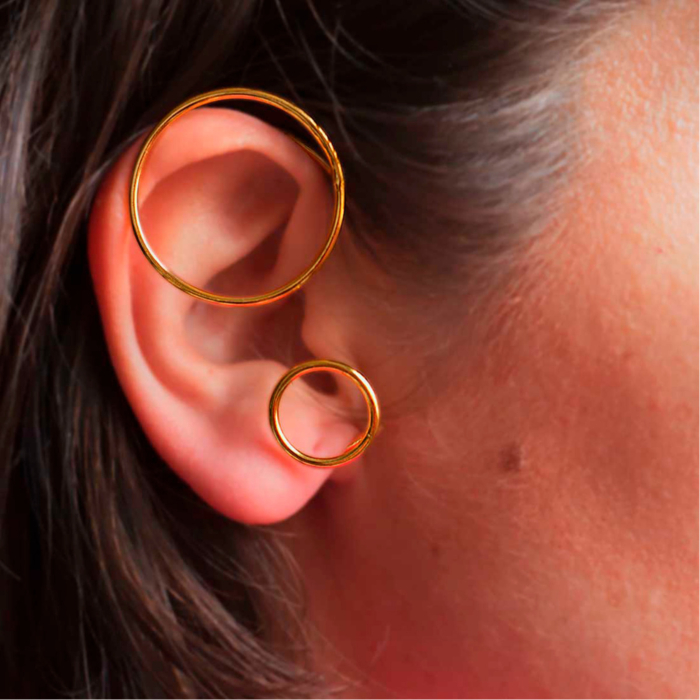 18kt Gold Plated Recycled Silver Earcuff Levitas