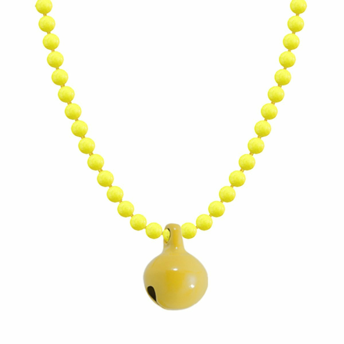 Allumette Neon Bell Necklace - Neon Yellow