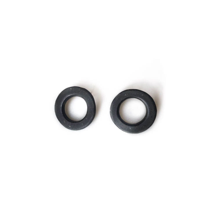 Concrete Circle Stud Earrings