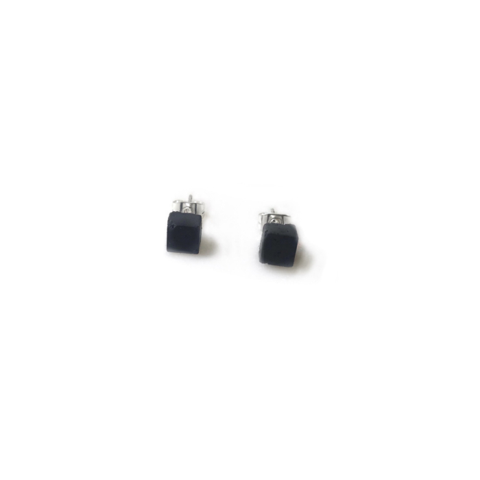 Concrete Unisex Small Block Stud Earrings