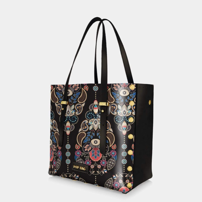 Baroque Tote Bag In Brown
