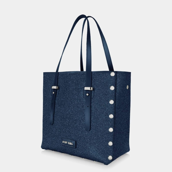 Swarovski Crystal Blue Tote Bag