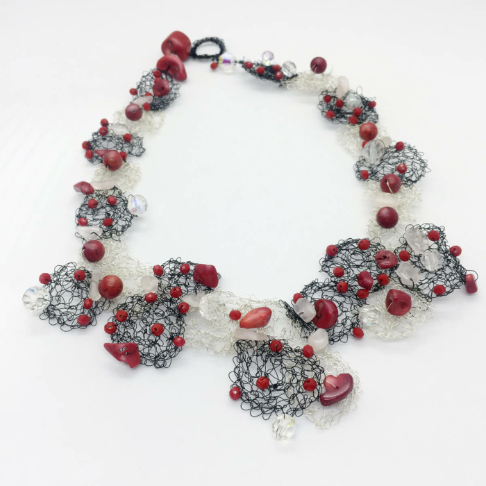 Wire & Red Coral Pathos Necklace