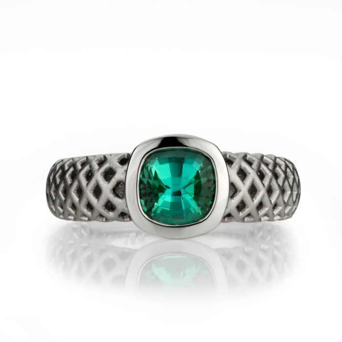 18kt White Gold Carroll Tourmaline Ring