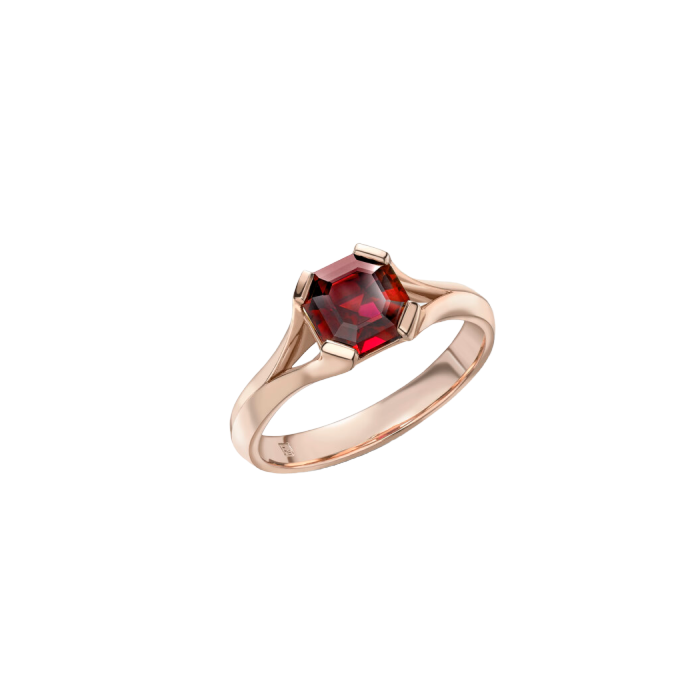 9kt Yellow Gold Siren Rubellite Ring