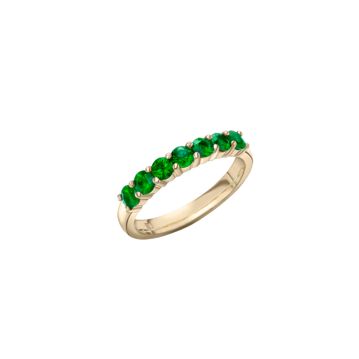 18kt Yellow Gold Green Emerald Ring
