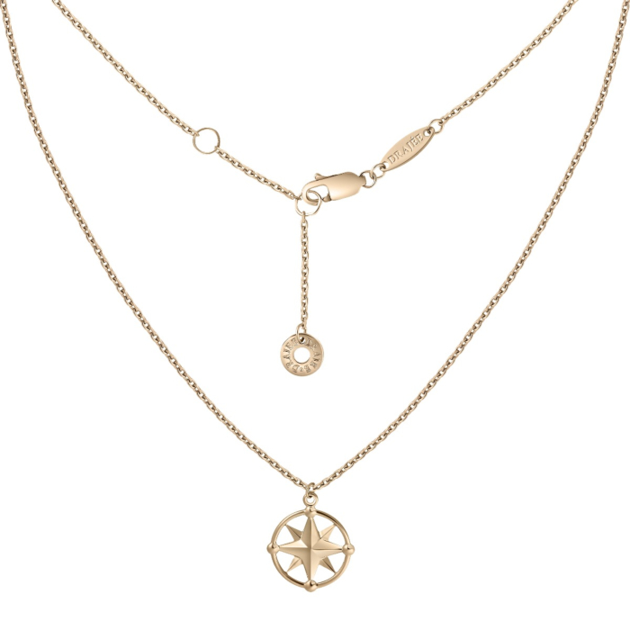 18kt Yellow Gold Rose des Vents Necklace