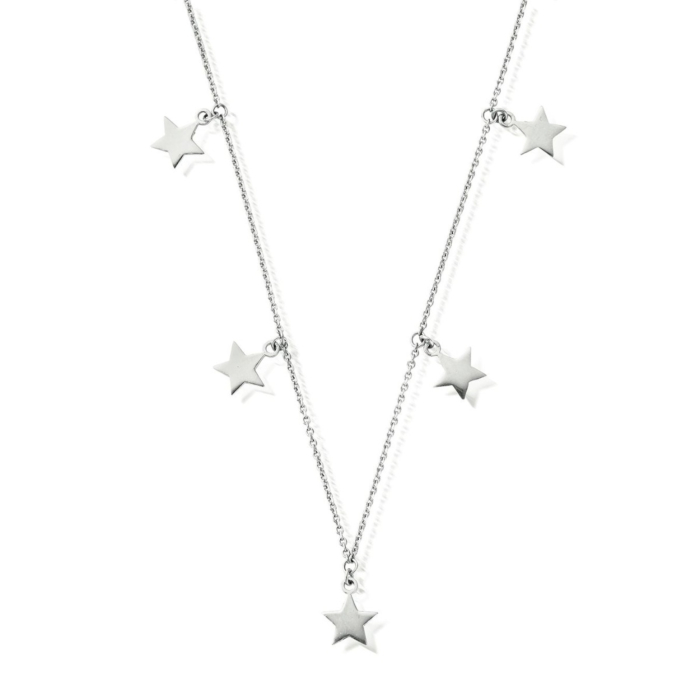Sterling Silver Multi Star Necklace