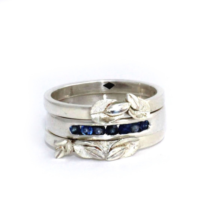 Sterling Silver and Sapphire Stacking Rings