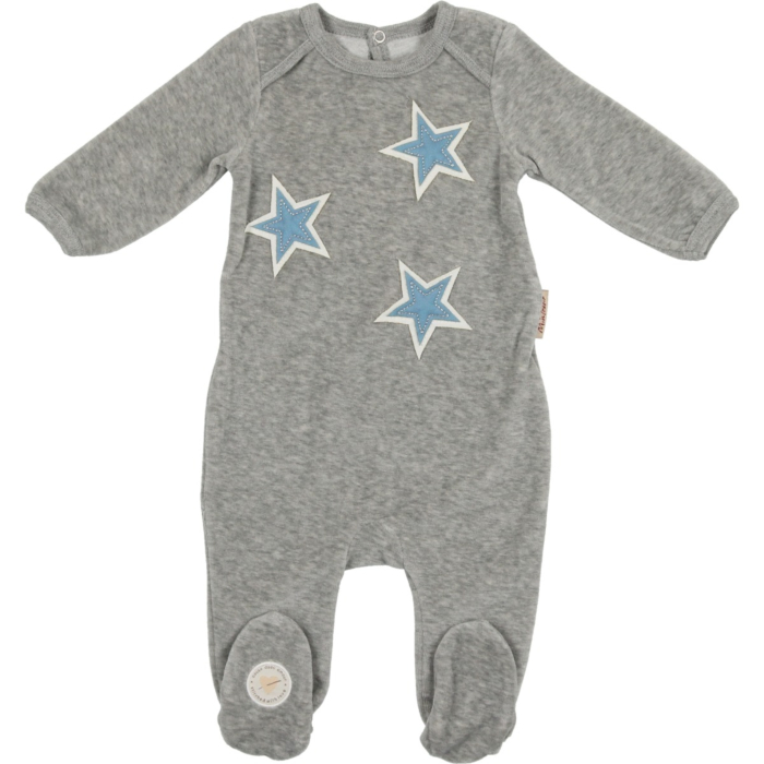 Velvet Star Patch Footie