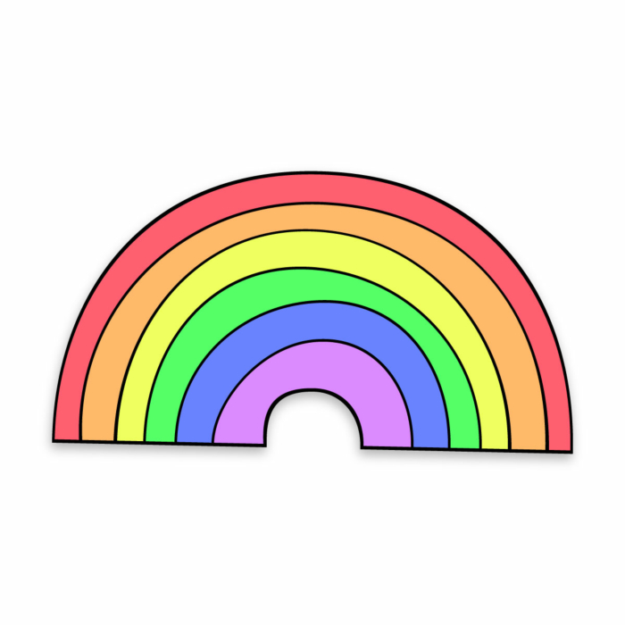 Rainbow of Hope enamel pin badge