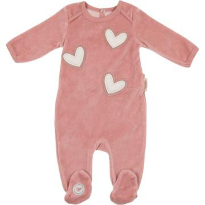 Rose Heart Patch Footie