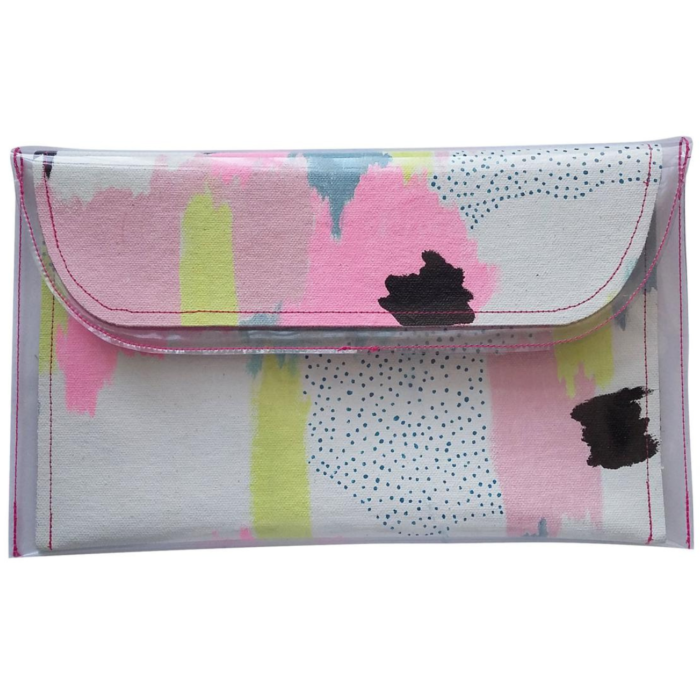 Hand-Painted Clutch Bag
