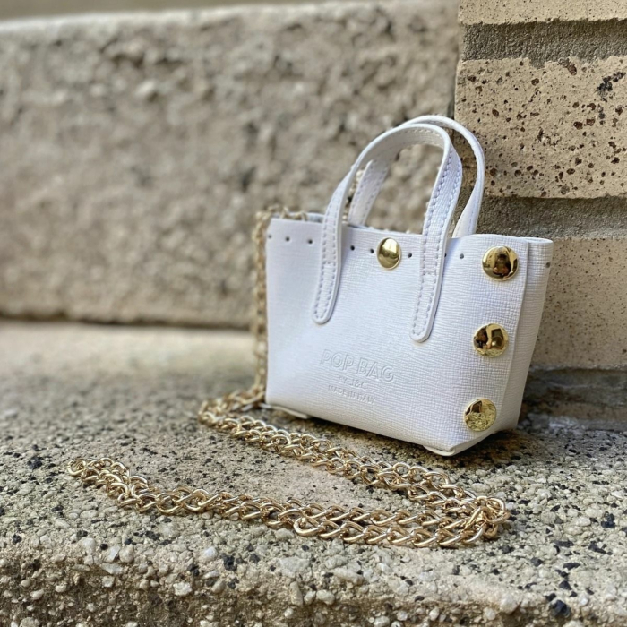 Baby Crossbody Bag In White