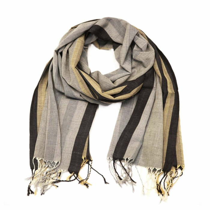 Charcoal Unisex Muslin Cotton Scarf