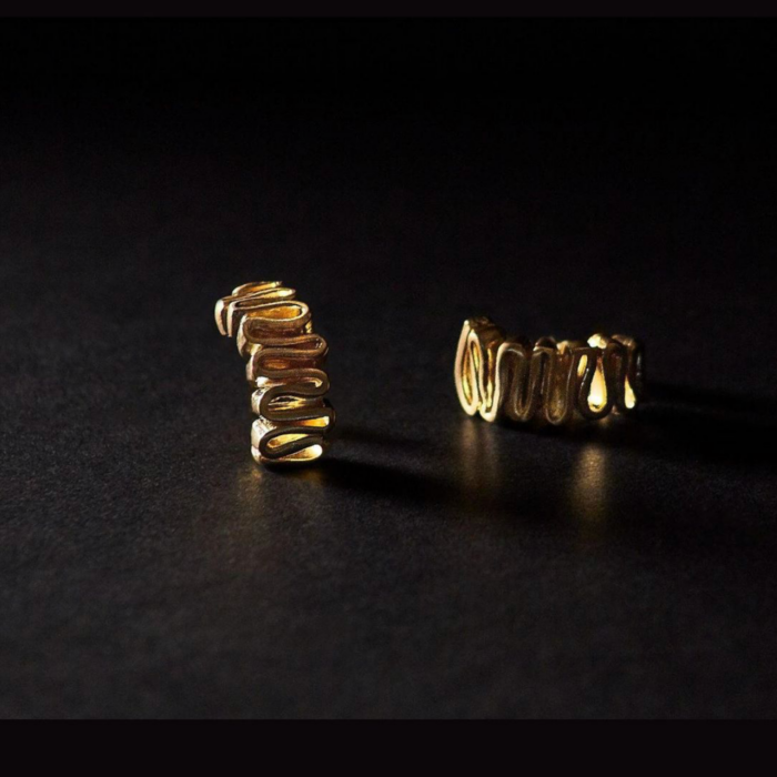 18kt Gold Plated Silver Arpa Earrings