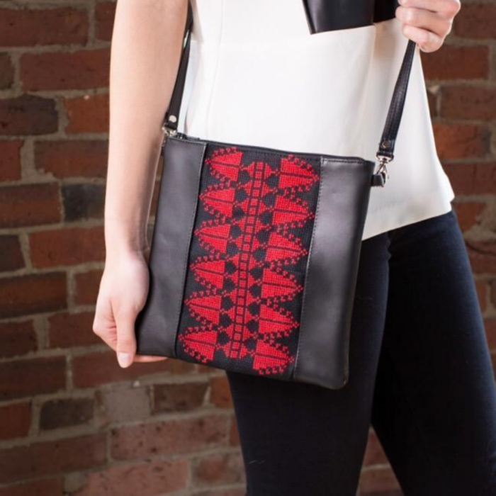 Leather Red Cypress Crossbody Bag
