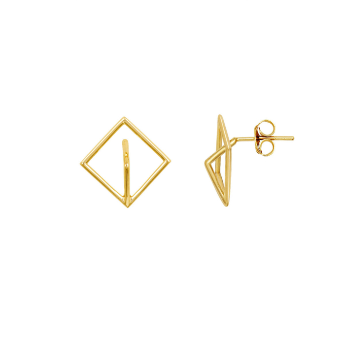Sterling Silver Plated 3D Mountain Limited Edition Studs Earrings
