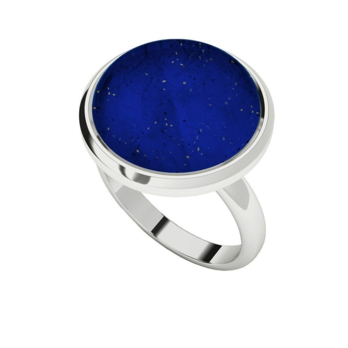 Lapis Lazuli Sterling Silver Cabochon Ring