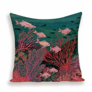 Coral Reef Cushion Cover | Alexa K Boutique