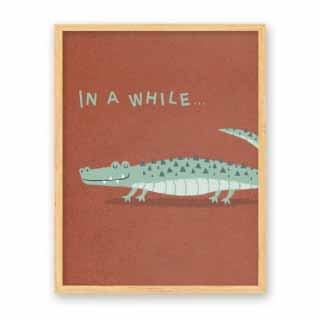 Crocodile, Nursery Art, Animal Print | Bobby & Bella