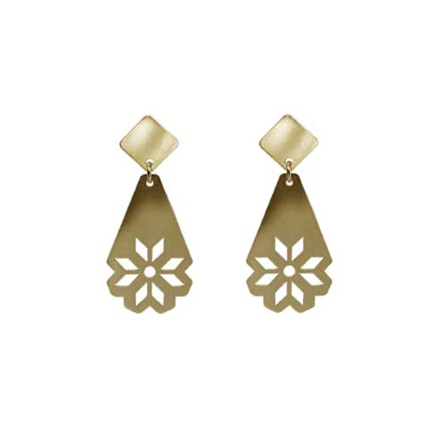 18kt Yellow Gold Plated Silver Eleonora Earrings | ACTINA JEWELRY