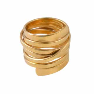 Gold Plated Sterling Silver Chunky Statement Wrap Ring | Milina London