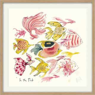 In the Pink Fish Print With Wooden Frame | Anna Wright
