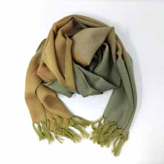 Olive Green Merino Wool Muffler | Siyana London