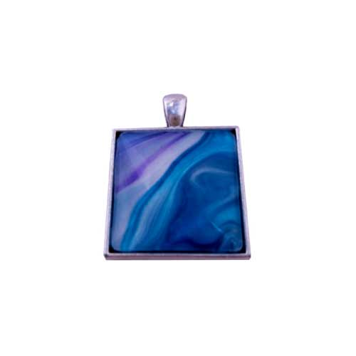 Sterling Silver Plated Square Pendant Necklace | MooreLikeThis