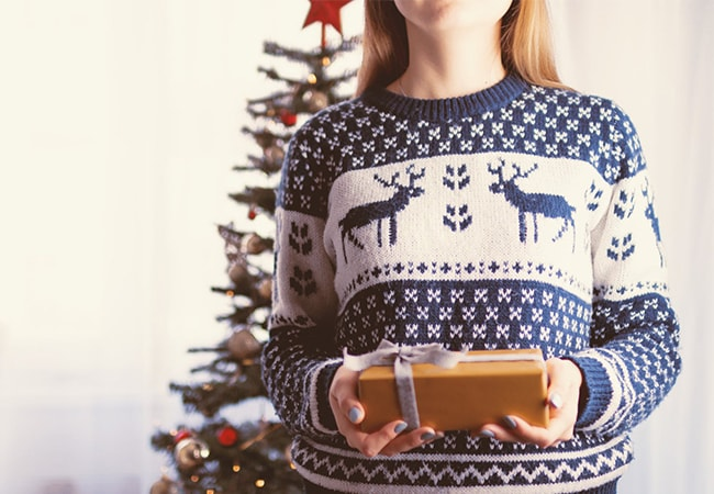 Jewellery to wear with a Christmas jumper