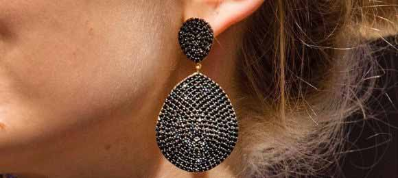 Bang On Trend With 10 Pairs Of Black Earrings