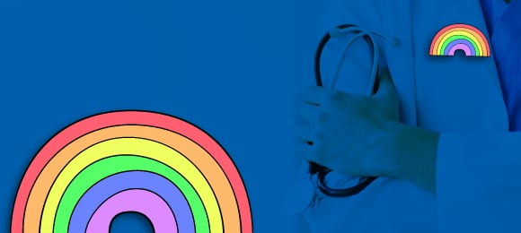 The Rainbow pin: Support the NHS